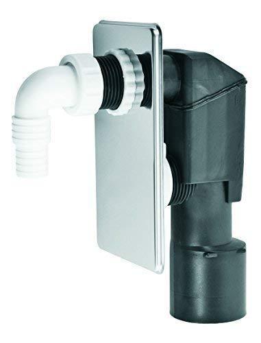 Unterputz-Waschmaschinensifon DN 50 mit verchromter Nirosta-Abdeckplatte