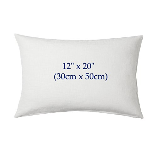 Night Comfort Anti Allergy Polyester Filled Cushion Inner Pads Extremely Filled Cushions Insert 12' x 20' (30cm x 50cm) approx