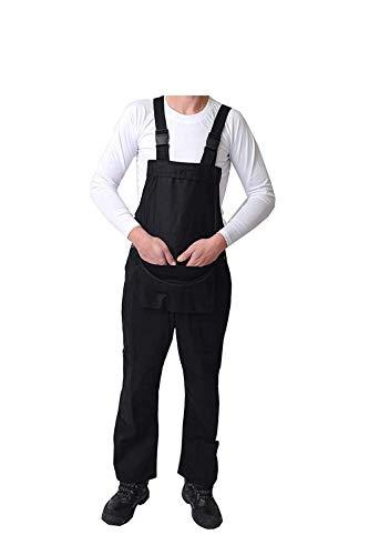 GRS Latzhose Latzhose Maleranzug für Dekorateure Bauarbeiter, Schwarz/Marineblau/Weiß (verschiedene Größen: XXS – 5XL) Gr. XL, Schwarz