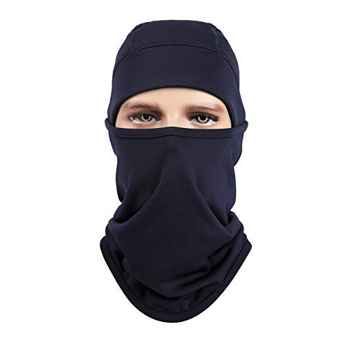 aegend Navy blau Sturmhauben Polyestervlies Ski Gesichtsmaske für Frauen Männer Jugend Taktische Sturmhaube für Motorrad Snowboard Radfahren im Freien Winter Halswärmer oder leichte Winddichte Hut