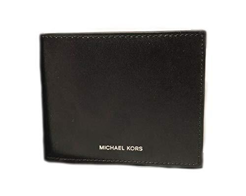 Michael Kors Warren - Cartera de piel para hombre, color negro