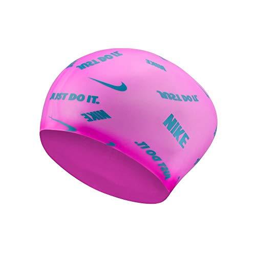 Nike Silicone Cap Badekappe Unisex Erwachsene Einheitsgröße rosa (Fire Pink)