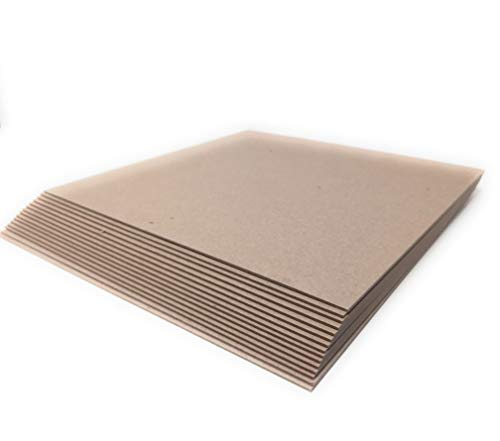 8.5 x 11 Inches 70 Point Kraft Heavy Duty Chipboard Sheets - 15 Per Pack |