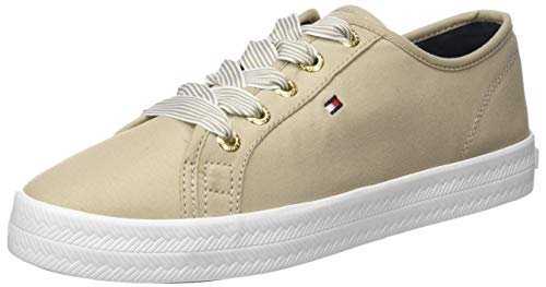 Tommy Hilfiger Damen Essential Nautical Sneaker, Beige (Stone Aep), 37 EU