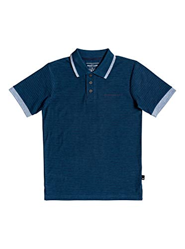 Quiksilver Kentin - Polo Manches Courtes - Garçon Enfant 8-16 Ans - Bleu