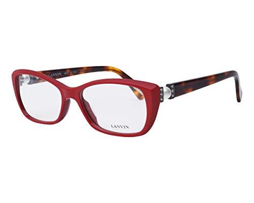 Unbekannt Lanvin Brille (VLN-665-S 09LB) Acetate Kunststoff ziegelfarben-rot - havana