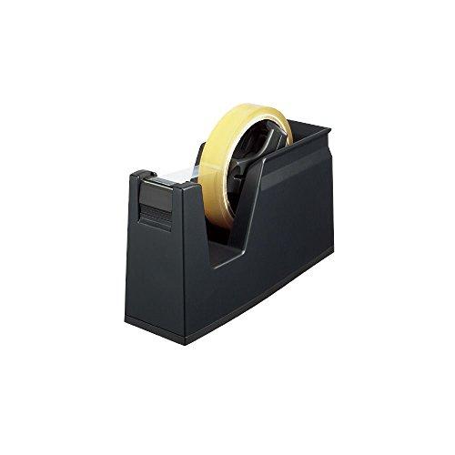 コクヨ テープカッター カルカット 黒 大巻き・小巻きテープ両用 T-SM100D 【まとめ買い3個セット】