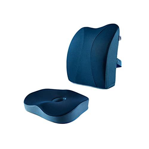 ZLJ Cojines de Asiento ergonomía Cojín cómodo Transpirable Cintura Duradera Nalgas Diseño Curvo Almohada de Oficina