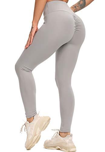 INSTINNCT Legging Sport Femme Plissage Push Up Pantalon Extensible Taille Haute Amincissant...