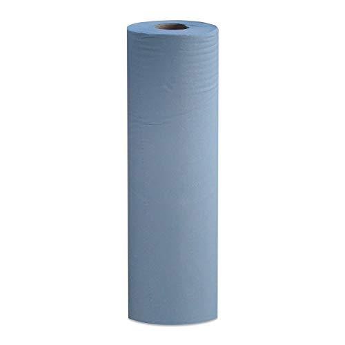 1 x Simply Direct Rotoli Massaggio Letto Blu 2 Strati. Rotolo Igiene. 48cm Larghezza x 50 Metri Lunghezza