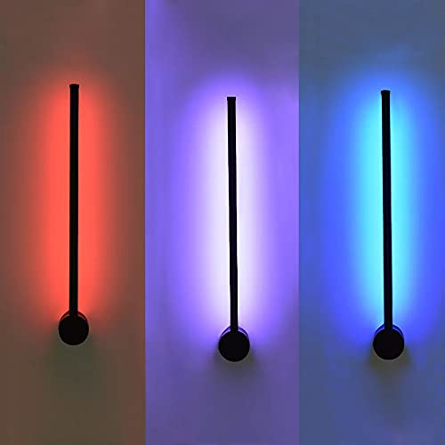 shisipq Lámpara De Pared Minimalista Moderna Con Luz LED Con Iluminador, Accesorio De Material Acrílico, Sala De Estar, Dormitorio, Mesita De Noche, Dispositivo De Lámpara De Atmósfera Colorida De Col