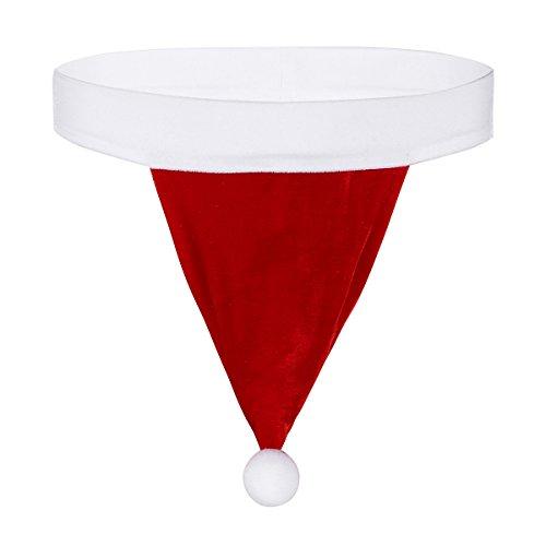 "Mufeng Men's Holiday Christmas Claus G String Backless Jockstrap Thong Underwear Santa Lingerie Red Large(Waist:31.0""/78cm)"