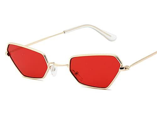 ODNJEMSD Polygon Fashion Small Frame Sunglasses Trend Sunglasses