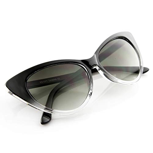 KISS Gafas de sol CAT EYE mod. CHIC NIKITA - fashion MUJER vintage glamour ROCKABILLY - CRISTAL NEGRO