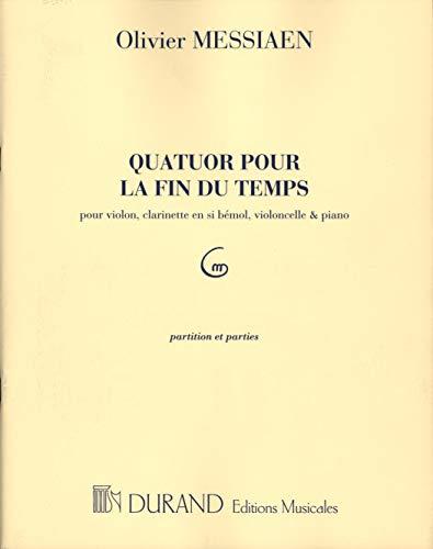 DURAND MESSIAEN O. - QUATUOR POUR LA FIN DU TEMPS - ENSEMBLE MIXTE Klassische Noten Kammermusik