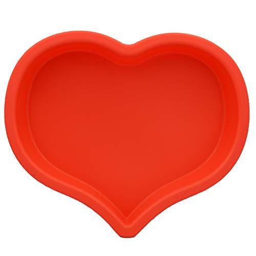 Cooking Details Silicone Mold Heart Shaped Baking Pan Non Stick Bpa Free Baking Pan 10 Inch