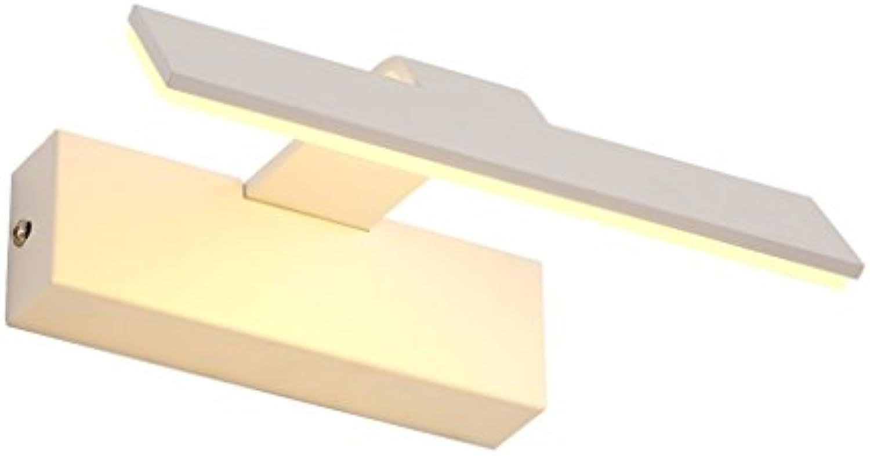 RMJAI Wandleuchte LED-Badezimmer-Wandleuchte-Make-uplampe Aluminiumbild-Farbe Warmes Wei (gre   21CM 3W)