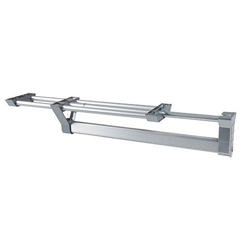 Emuca 7086762 Perchero colgador extraíble para armario, largo 350 mm