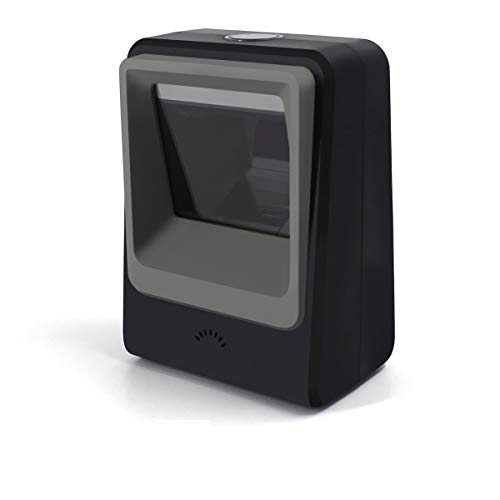 Alacrity 1D 2D QR Desktop Barcode Scanner, omnidirektionaler freihändiger USB Barcode Leser, erfasst Barcodes vom Handy-Bildschirm, automatische Bilderkennung,Schwarz