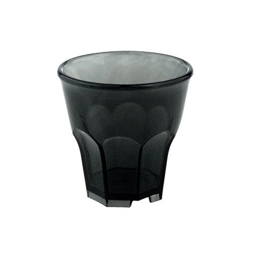 Doimoflair Rocks Lot de 10 verres à shot en plastique rigide 4 cl empilables incassables Passe au lave-vaisselle