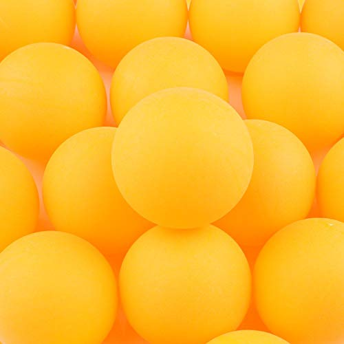 Pack of 150 Table Tennis Balls Plastic Ping Pong Balls 40mm for Amateur Entertainment, Table Tennis Training, Adults & Children Games (Yellow)