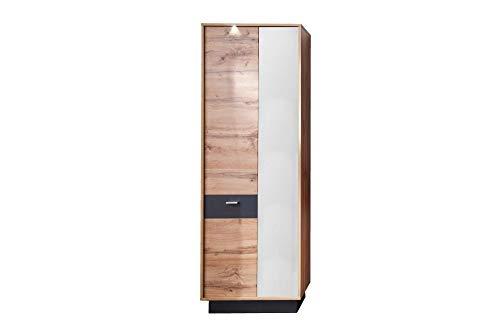 Newfurn Garderobekast multifunctionele kast natuur garderobe schoenenkast gangkast kast kast II 69x191x 35 cm (BxHxD) II [Bekom.Sevente] in Wotan eiken imitatie / Wotan eiken imitatie hal