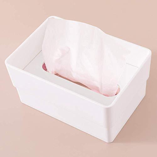 XUSHEN-HU Tejido caja de pañuelos de dispensadores de papel higiénico caja de almacenamiento caja multifuncional creativo tejido tejido caja de almacenaje del hogar de la bandeja de la sala de café ve