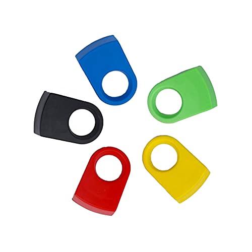 QUUPY 5 clips de plástico ABS para bebida, soportes de hebilla de botella para copas de vino, clip de cerveza, para copas de goleta (color al azar)