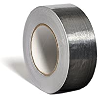 Unecol 8403 Cinta (aluminio, rollo, 50 micras), Gris, 10 m x 50 mm