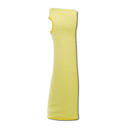 "Magid Glove & Safety KEV18TS-AMZN CutMaster Flame Resistant Sleeve with Thumb Slots, Cut Level 4, Para-Aramid, 18"", Yellow (1 Sleeve)"