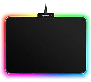 RGB Gaming Mouse Pad Mat - 340×245×3mm Hcman Led Mousepad with Non-Slip Rubber Base Soft Computer Keyboard Mouse Pad for MacBook PC Laptop Desk
