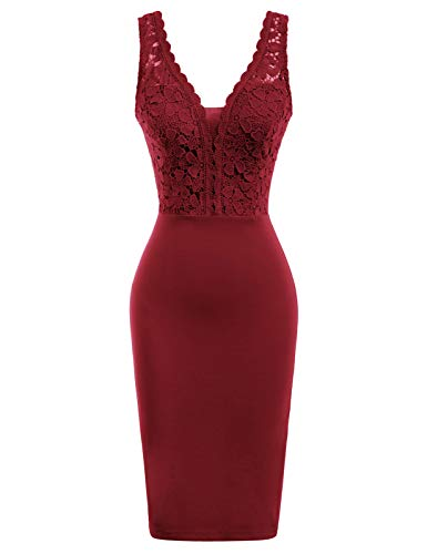 GRACE KARIN Rockabilly Kleider sexy cocktailkleider elegant Retro Kleider CL136-4 S