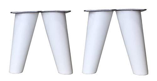 patas para muebles madera haya. Patas cónicas con inclinación, y placa de montaje ya instaladas. 8 cm alto color natural (10 cm blanco)