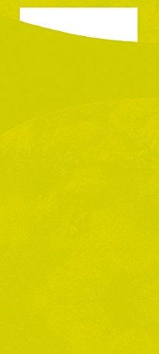 Duni 450052_(1) Bestecktaschen mit Taschentücher, 8,5 x 19 cm, Kiwi Sacchetto und Weiß, 100 Stück