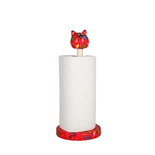 Pomme pidou Kat Caramel - Keukenrolhouder - Rood - Flamingo's
