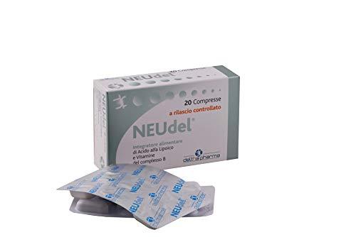 Neudel Integratore Alimentare Antiossidante e Antiage Acido Alfa Lipoico 600Mg a Rilascio Controllato Brevettato e Vitamine del Gruppo B, per la Funzionalità del Sistema Nervoso - 20 Cpr