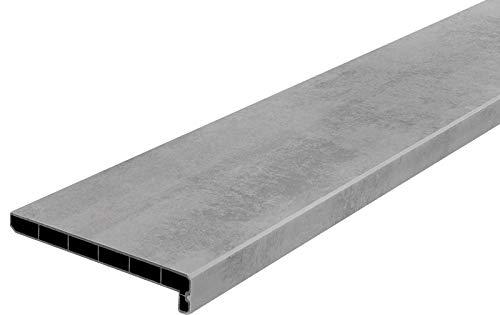 Lignodur Topline LD36 Innenfensterbank beton grau 200 mm Ausladung inkl. Seitenabschlüsse Fensterbank (1100mm)
