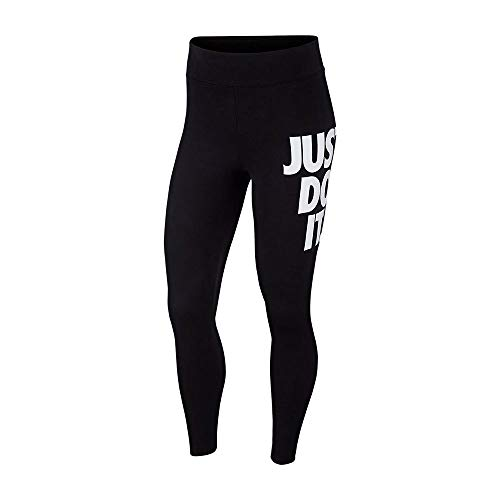 Nike Sportswear Leg-A-See Jdi, Leggings a 7/8 Donna, Multicolore (Nero/Bianco), L (IT 48-50)