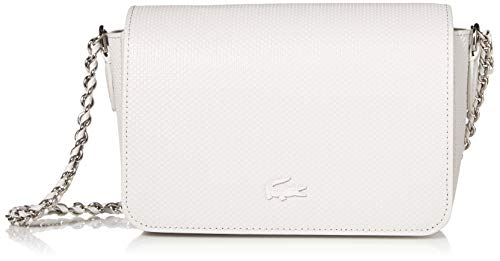 Lacoste Women's Chantaco Leather Chain Crossbody Bag, azalea pink/Silver Grey chine
