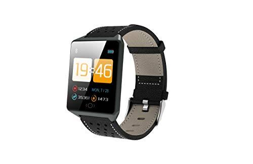 """Gelrova Fitness Armband Uhr mit Blutdruckmessung Pulsmesser IP68 Wasserdicht 1.3""""HD Smart Watch Schrittzähler Uhr Aktivität Tracker für Kinder Frauen Männer SMS Push für iOS Android Phone"""