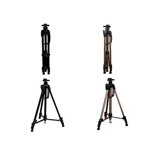FAKER Caballete de pie para Artista, Caballete de Aluminio Caballete liviano para Piso o Mesa Caballete de Pintura o presentación portátil Caballete de 56-155 cm de Altura -612 ( Color : Black )