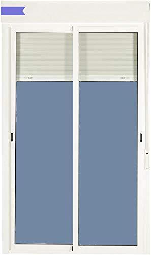 Ventanastock Balconera Aluminio Corredera Con Persiana PVC 1500 ancho × 2185 alto 2 hojas (marco y cajón persiana en kit)