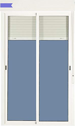 Ventanastock Balconera Aluminio Corredera Con Persiana PVC 1500 ancho × 2185 alto...