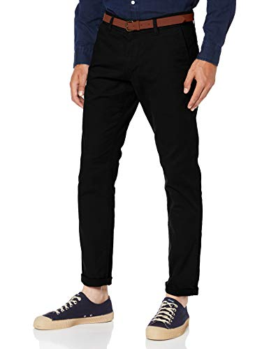 ESPRIT Herren Essential Chino Hose, 001/BLACK-New Version, 36W / 32L