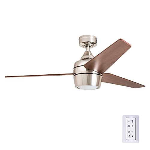 Honeywell Ceiling Fans 50604-01 Eamon Ceiling Fan, 52', Brushed Nickel