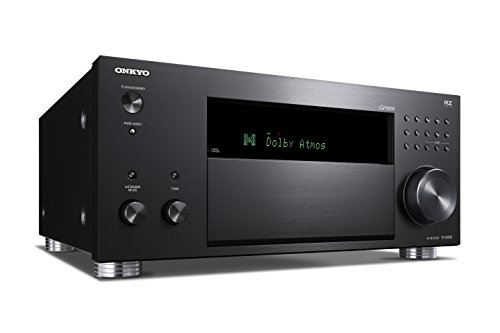 Onkyo TX-RZ830(B) 9.2-Channel AV Receiver (THX Cinema Sound, Dolby Atmos, DTS:X, 4K Feed-through, Wifi, Bluetooth, Music Streaming, Spotify etc, Internet Radio, Multiroom, 180 W/Channel), Black