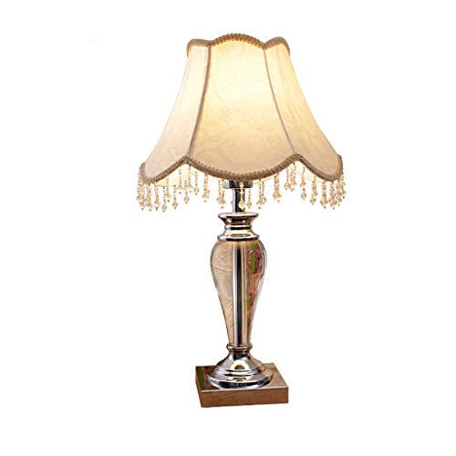 Lampe de chambre à coucher en cristal européen lampe chambre lampe de chevet salon créatif