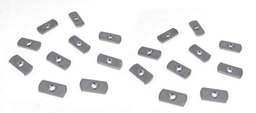 20 Pack 1/4-20 Spot Weld Nuts - Double Tab - ND 2118