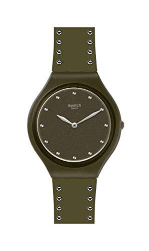 Swatch Reloj Analógico para Mujer de Cuarzo Suizo con Correa en Silicona SVOG101
