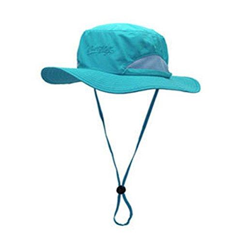 ECYC Hommes Femmes Chapeaux de pêche Protection Solaire Randonnée, Ciel Bleu